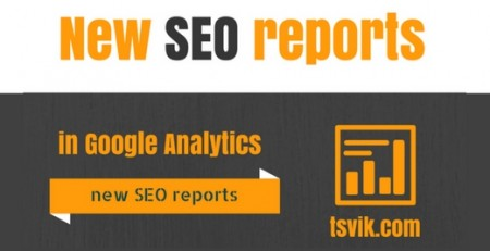 the new SEO reports in Google Analytics