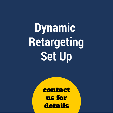 Dynamic remarketing set up (s)