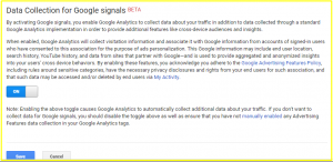 Data Collection Google Signals