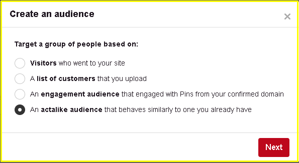 Pinterest Actalike Audiences