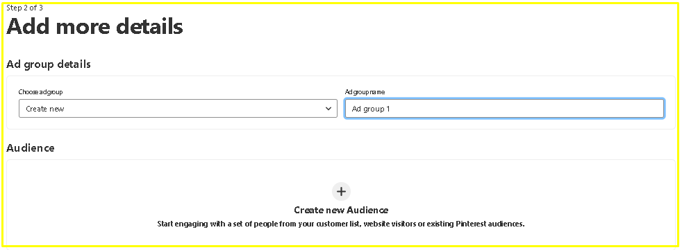 Create Visitor Audience on Pinterest