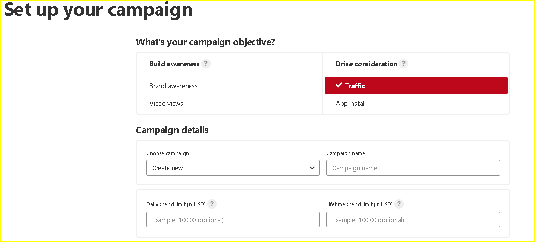 Create a Campaign on Pinterest