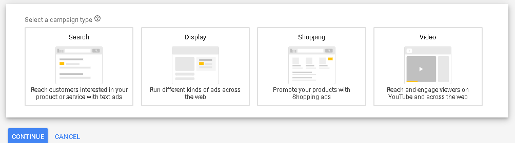 Youtube Campaign Options