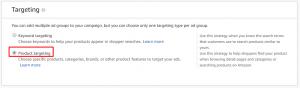 Amazon Product Targeting