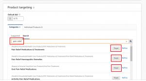 Amazon Detailed Product Targeting