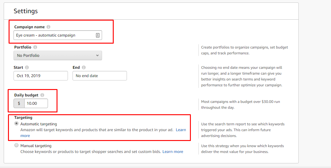 Amazon Automatic Targeting