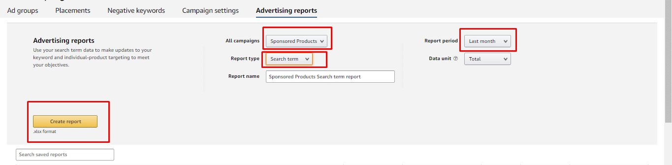 Create Reports on Amazon